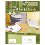 Maco Tag & Label Recycled Laser/Inkjet Business Cards, White, 2 x 3 1/2, 250/Box
