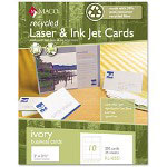 Maco Tag & Label Recycled Laser/Inkjet Business Cards, Ivory, 2 x 3 1/2, 250/Box