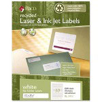 Maco Tag & Label Recycled Laser and InkJet Labels, 2/3 x 3 7/16, White, 1500/Box