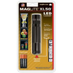 Mag Instrument LED Flashlight, XL50, Adjustable, 3 Mode Push Button, Compact Design, with 3 AAA Batteries, Black