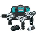 Makita 4 Piece 12V Max Lithium-Ion Impact Tool Combo Kit With Flashlight and Tote Bag