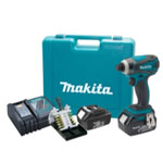 Makita 18V LXT Lithium-Ion Impact Dr Kit With Bonus Impact Gold Bit Set
