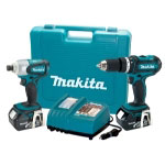 Makita 2 Piece 18 Volt LXT Lithium-Ion Hammer Driver-Drill and Impact Driver Combo Kit