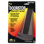 Master Caster Giant Foot Doorstop, Brown, 3 1/2w x 6 1/4l x 2h