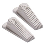 Master Caster Big Foot Doorstop, No Slip Rubber Wedge, 5w x 7 1/2d x 1 1/2h, Beige, 2/Pack