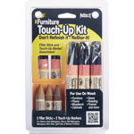 Master Caster ReStor It Furniture Touch Up Kit, 5 Woodgrain Markers/3 Filler Sticks per Kit