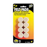 "Master Caster Self Stick Felt Pads, 1"" Diameter, 16 Circles/Pack"