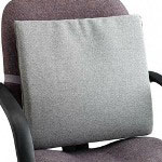 Master Caster The Comfortmakers Adjustable Seat/Back Cushion, 17w x 2 3/4d x 17 1/2h, Gray