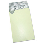 Master Mfg Posting/Ledger Tray Metal Tab Index for 8 1/2x11 Sheets, A Z and Blank Inserts