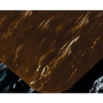 Box Partners Rubber Floor Mat, 2' x 10', Walnut Marble