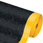 Box Partners Premium Anti-Fatigue Mat, 3' x 12', Black & Yellow