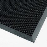 "Box Partners Rubberized Rubber Entry Mat, 32"" x 39"", Black"