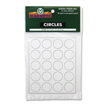 "Magna Visual Magnetic Circles, 3/4"" Diameter, White, 20/Pack"
