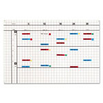 Magna Visual Magnetic Start Up Planning Kit, 2 Sided Board, 1 x 1 Grid/Plain White, 36w x 24h