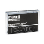 Maxell Audio/Dictation Cassette, Standard Size Communicator, 90 Minutes (45 x 2)