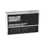 Maxell Audio/Dictation Cassette, Standard Size Communicator, 60 Minutes (30 x 2)