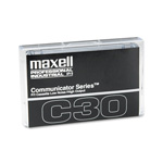 Maxell Audio/Dictation Cassette, Standard Size Communicator, 30 Minutes (15 x 2)