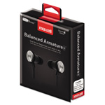 Maxell BA-1 Balanced Armature Earphones with In-line Mic, Black