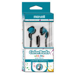 Maxell Colorbuds with Microphone, Blue