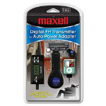 Maxell P5A iPod(R) FM Transmitter & Auto Power Adapter with 30 Pin Connector