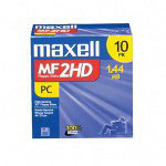 "Maxell 3.5"" Diskettes, IBM Format, DS/HD, 10/Box"