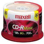 Maxell 30/Pack 80 Minute Gold Audio CD R, Spindle