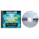 Maxell CD-Rw, Branded Surface, 700Mb/80Min, 4X-10X
