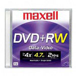 Maxell Rewritable Single Sided Recordable 4.7GB DVD+RW