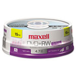 Maxell DVD+RW Rewritable Discs, Spindle Pack, 4.7 GB, 15/Pack