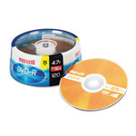 Maxell DVD R Recordable Discs on Spindle, 4.7 GB, Gold, 15/Pack