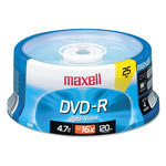 Maxell DVD R Recordable Discs on Spindle, 4.7 GB, 16x, Gold, 25/Pack