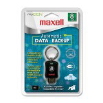 Maxell Data Flash Drive, 8GB, Black