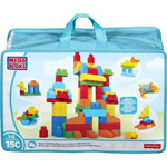 Mega Bloks Deluxe Building Bag, 145 Pieces, Assorted