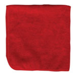 "Microfiber and More Detailer's 16""x16"" Red Microfiber Cloth, Bag of 12"