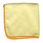 "Microfiber and More Detailer's 12""x12"" Yellow Micofiber Cloth, Bag of 12"