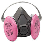 3M Half Facepiece Respirator 6000 Series, Reusable, Large