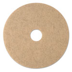 "3M Ultra High-Speed Natural Blend Floor Burnishing Pads 3500, 20"" Dia., Tan, 5/CT"