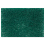"Scotch Brite® Commercial Heavy Duty Scouring Pad 86, 6"" x 9"", Green, 12/Pack, 3 Packs/Carton"