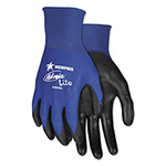 Memphis Glove Ultra Tech Tactile Dexterity Work Gloves, Blue/Black, Extra Large