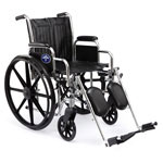 "Medline Excel 2000 Standard Wheelchairs - Wheelchair, Excel, 18"", Perm Arm, S/A Foot"