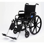 "Medline K4 Standard Lightweight Wheelchairs - Wheelchair, Excel, K4, 18"", S/B Dla, S/A Ft"