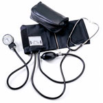 Medline Home Blood Pressure Kits - Aneroid, Hand Held, Attached Stethoscope