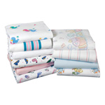 Medline Kuddle-Up Baby Blankets - Blanket, Baby, 85C/15P, Stripe, 30X40