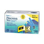 Medisense - Abbot Labs Precision Extra End Fill Test Strips, 100 per Box