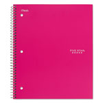 Mead Trend Notebooks, Perforated, 5-Subject, 200/Sht, Assorted