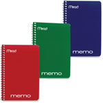 Mead Memo Book, College Ruled, 6 x 4, Wirebound, 40 Sheets
