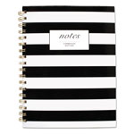 Cambridge Black & White Striped Hardcover Notebook, 9 1/2 x 7 1/4, 80 Sheets