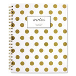 Cambridge Gold Dots Hardcover Notebook, 11 x 8 7/8, 80 Sheets