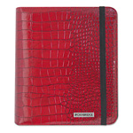 "Mayline Basic iPad Case, Simulated Leather, 9-1/8"" x 1-1/8"" x 10-1/2"", Red"