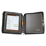 "Mayline Deluxe iPad Case, Simulated Leather, 9-3/4"" x 4-3/10"" x 11-1/8"", Black"